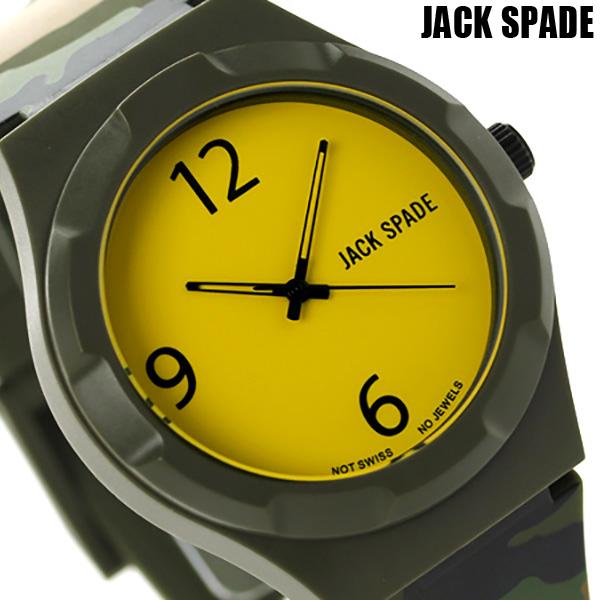 店内ポイント最大43倍!16日1時59分まで! ジャックスペード グラフィック パターン 40mm WURU0012 JACK SPADE メンズ 腕時計 イエロー×カモフラージュ 時計【あす楽対応】