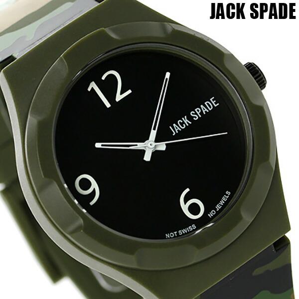 ジャックスペード グラフィック パターン 40mm WURU0013 JACK SPADE メンズ 腕時計 ブラック×カモフラージュ 時計【あす楽対応】