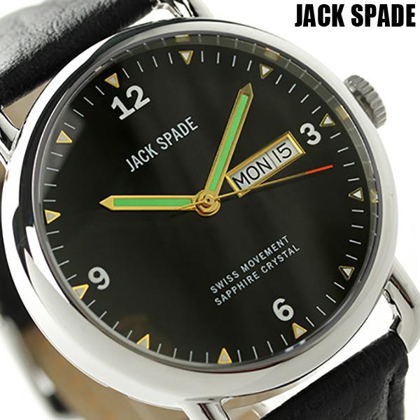 ジャックスペード バックナー 42mm メンズ 腕時計 WURU0016 JACK SPADE オールブラック 時計【あす楽対応】