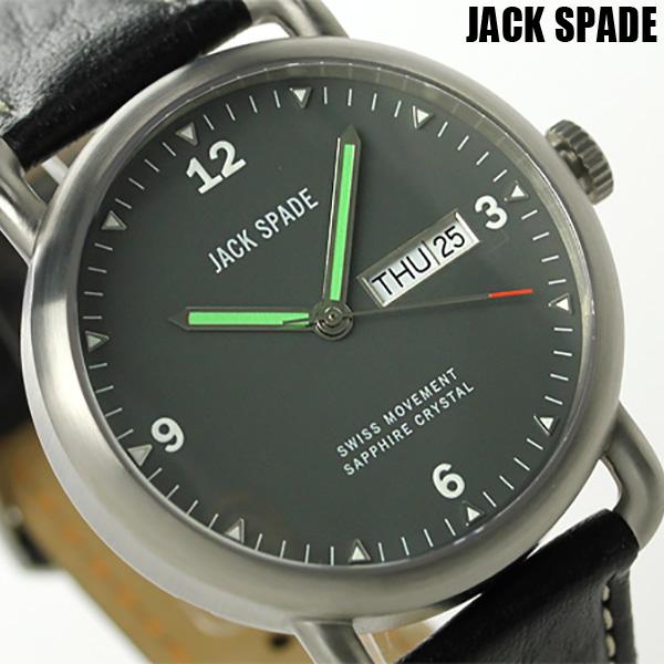 ジャックスペード バックナー 42mm デイデイト メンズ WURU0021 JACK SPADE 腕時計 クオーツ グレー×ブラック 時計【あす楽対応】