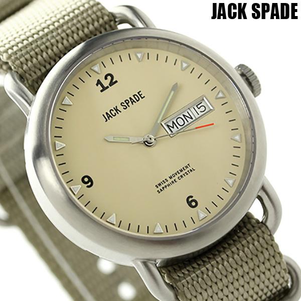 ジャックスペード コンウェイ クラシックミリタリー 38mm WURU0056 JACK SPADE メンズ 腕時計 ベージュ 時計【あす楽対応】