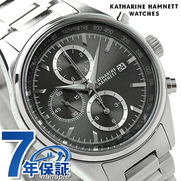 キャサリン ハムネット クロノグラフ 7 日本製 メンズ KH20C9-B24 KATHARINE HAMNETT 腕時計 クオーツ グレー 時計