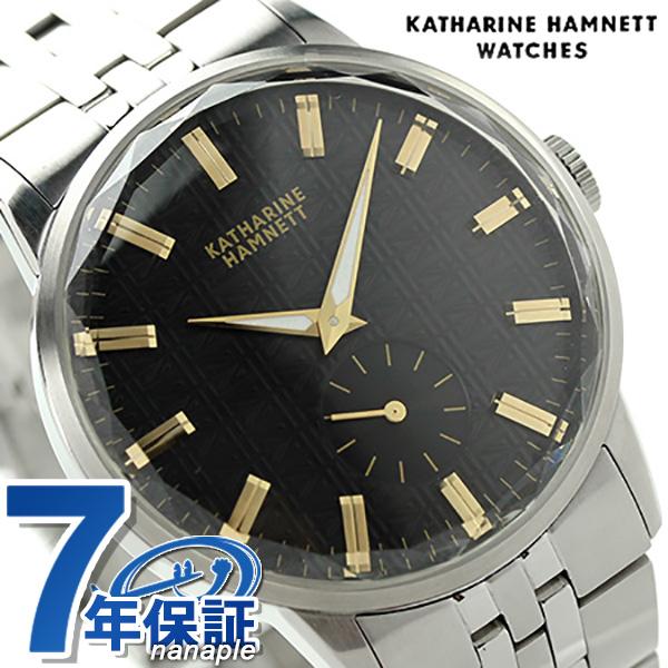 キャサリン ハムネット 日本製 スモールセコンド KH20F7B34 KATHARINE HAMNETT メンズ 腕時計 カッティングエッジ メタルブレスレット クオーツ ブラック 時計【あす楽対応】