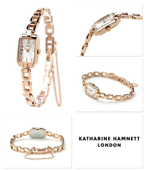 Katharine Hamnett Deco 3-Japan ladies KH87D5-B18 KATHARINE HAMNETT watch quartz silver x pink