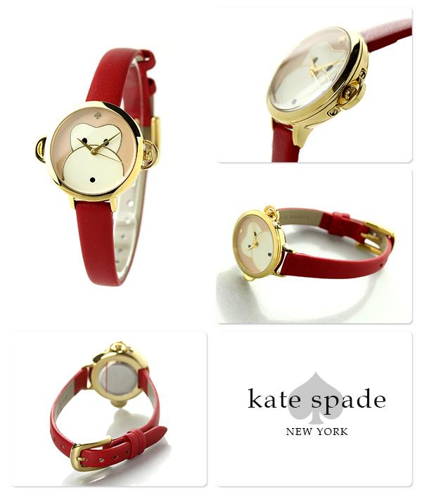 凯特黑桃纽约地铁小手表KSW1066 KATE SPADE NEW YORK猴子×红