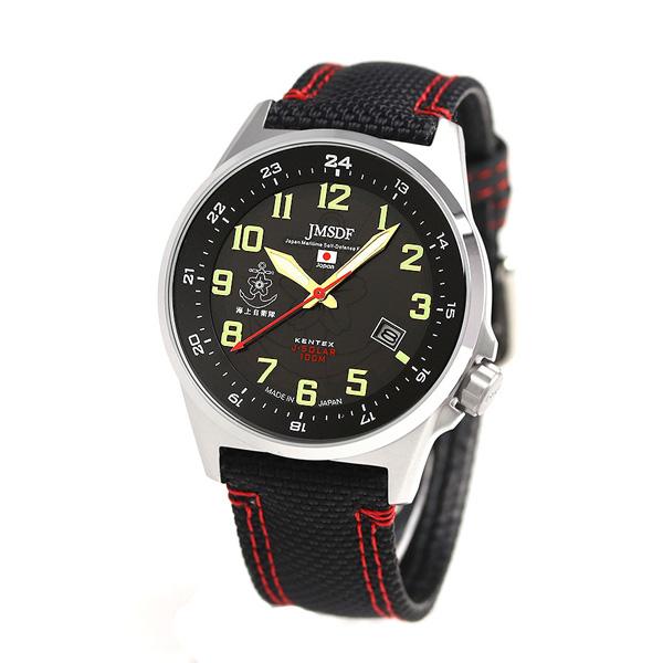 肯纺绩品JSDF太阳能标准日本制造S715M-03 Kentex人手表黑色