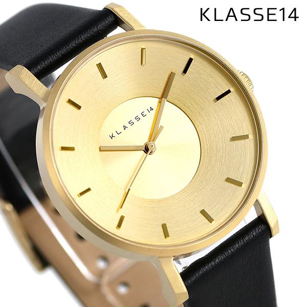当店なら!さらにポイント+4倍!24日23時59分まで KLASSE14 クラス14 ヴォラーレ 36MM ユニセックス 腕時計 VO14GD001W ゴールド×ブラック