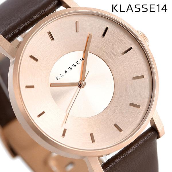 KLASSE14 クラス14 ヴォラーレ 42MM ユニセックス 腕時計 VO14RG002M ローズゴールド×ブラウン