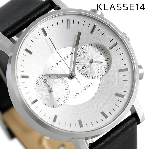 KLASSE14 クラス14 ヴォラーレ クロノグラフ 42MM 腕時計 VO15CH001M シルバー×ブラック【あす楽対応】