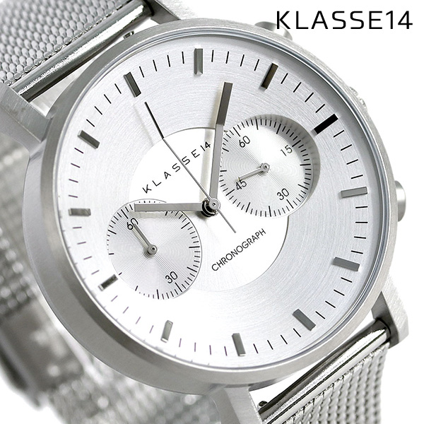 KLASSE14 クラス14 ヴォラーレ クロノグラフ 42MM 腕時計 VO15CH002M シルバー