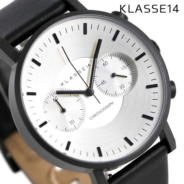 KLASSE14 クラス14 ヴォラーレ クロノグラフ 42MM 腕時計 VO15CH003M シルバー×ブラック