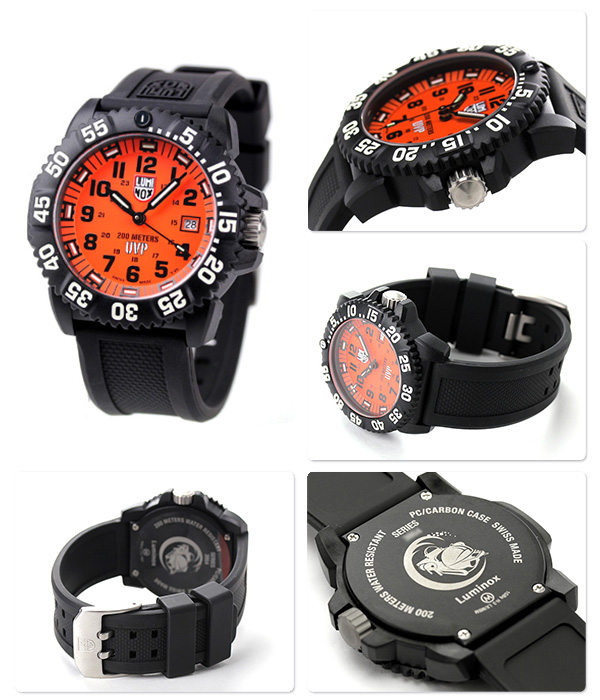 Luminox 3059 Scott Cassel compass 3059.SET LUMINOX men's watch quartz movement orange / black