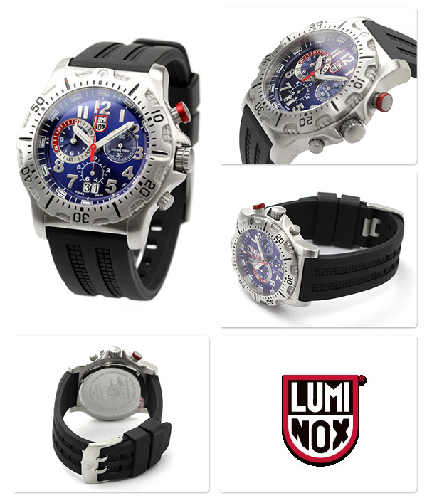 Luminox dive watch chronograph blue x black rubber belt LUMINOX 8153.RP