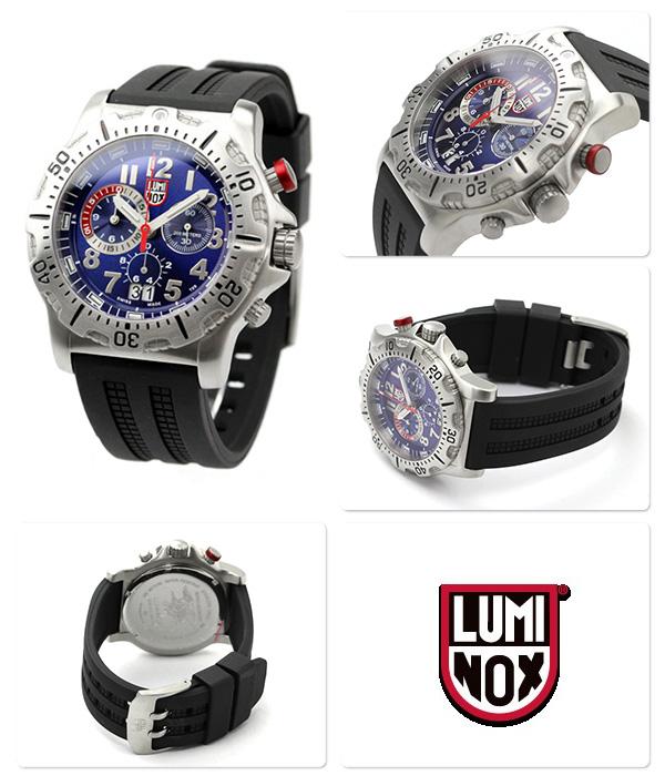 Lumi Knox dive watch chronograph blue X black rubber belt LUMINOX 8153 .RP