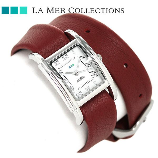 ラメール コレクション レザー レディース 腕時計 LMGBUENI002 LA MER ギフトボックス 時計