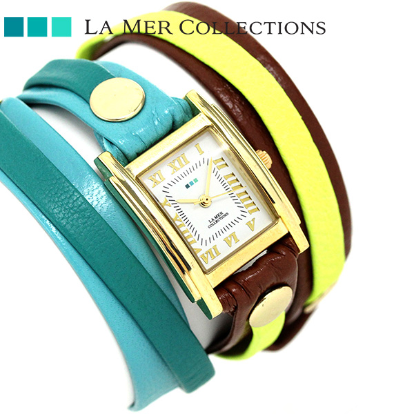 ラメール コレクション レザー レディース 腕時計 LMLWMIX1005 LA MER アイスランディック 時計【あす楽対応】