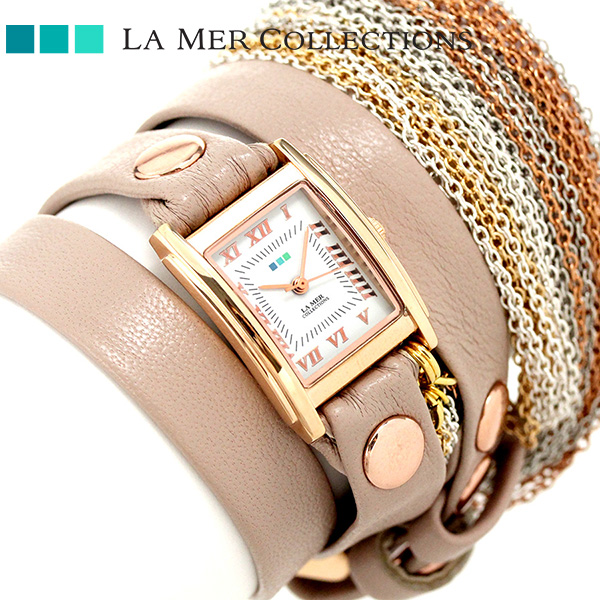 ラメール コレクション レザー レディース 腕時計 LMMULTICW3001A LA MER スペシャリティ マルチチェーン 時計【あす楽対応】
