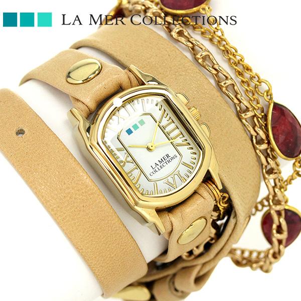 ラメール コレクション レザー レディース 腕時計 LMSBY001 LA MER アイスランディック 時計【あす楽対応】