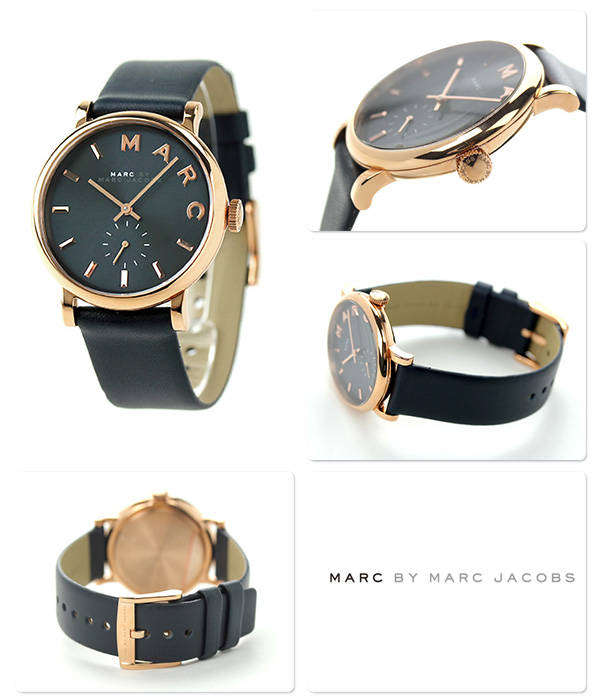Mark by mark Jacobs Baker Small second MBM1329 MARC by MARC JACOBS Lady's watch quartz navy leather belt