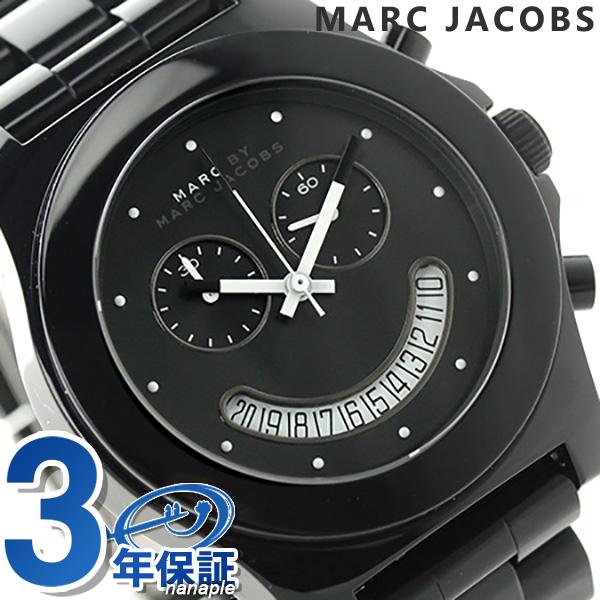 标记经由标记雅各布花环酒吧计时仪MBM4574 MARC by MARC JACOBS女士手表石英全部黑色