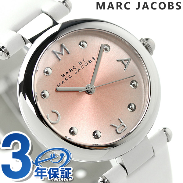 makubaimakujieikobusudotti 34 MJ1407 MARC by MARC JACOBS手表粉红×白