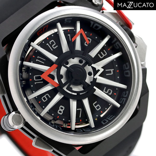【10日はさらに+4倍で店内ポイント最大53倍】 マッツカート リバーシブル デュアルムーブメント メンズ 腕時計 RIM-01-BK186 MAZZUCATO リム 48mm 時計