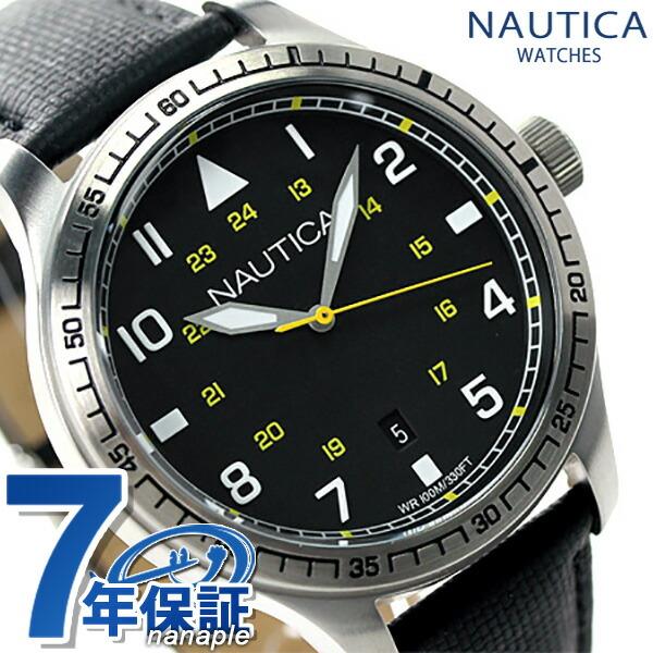 ノーティカ BFD 105 デイト クラシック メンズ 腕時計 A10097G NAUTICA クオーツ ブラック 時計