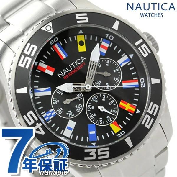 ノーティカ 腕時計 NST 07 フラッグ マルチファンクション ブラック NAUTICA A14631G 時計【あす楽対応】