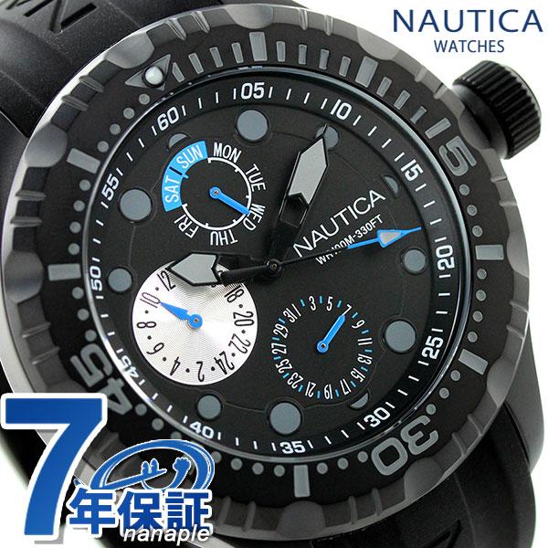 ノーティカ BFD 100 クオーツ メンズ 腕時計 A16681G NAUTICA オールブラック 時計