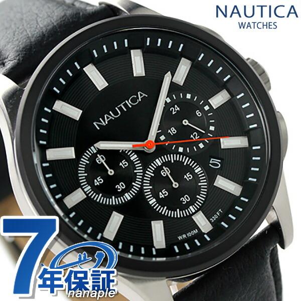 ノーティカ NCT 17 クロノグラフ メンズ 腕時計 A16691G NAUTICA クオーツ ブラック 時計