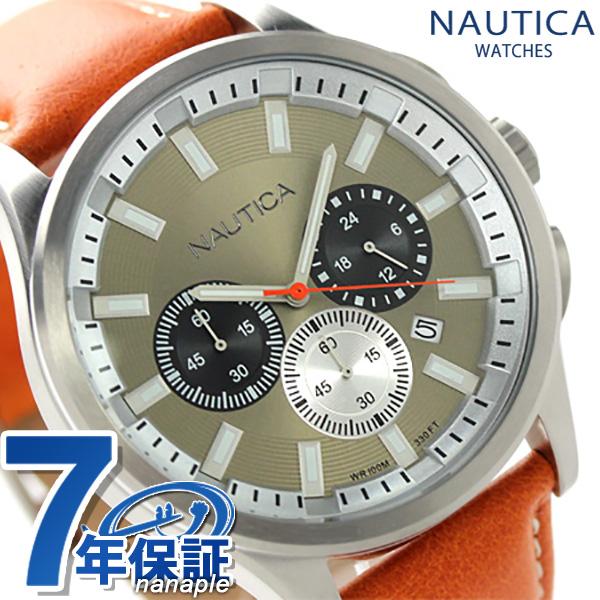 ノーティカ NCT 17 クロノグラフ メンズ 腕時計 A16692G NAUTICA クオーツ ゴールド×オレンジ 時計