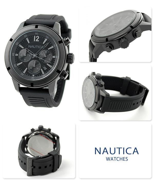 notika NSR19計時儀人手錶A18709G NAUTICA石英全部黑色