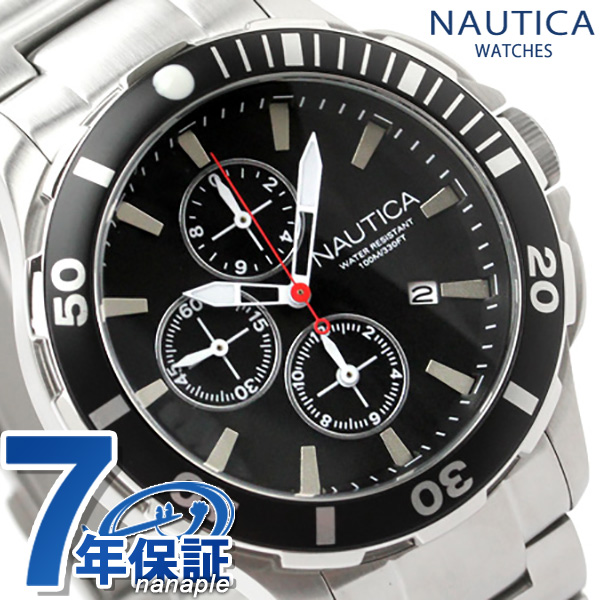 ノーティカ 腕時計 BFD 101 ダイブスタイルクロノ ブラック NAUTICA A20507G 時計