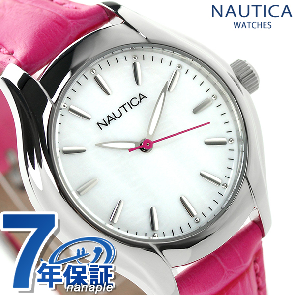 White Coupon Clock A Nct Half Price 18 Watch Is Pink Mid X UsableNautica Lady's Nai11010m Shell Size DI9EWH2