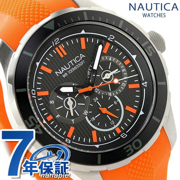 ノーティカ NST 10 クオーツ メンズ 腕時計 NAI13519G NAUTICA ブラック×オレンジ 時計