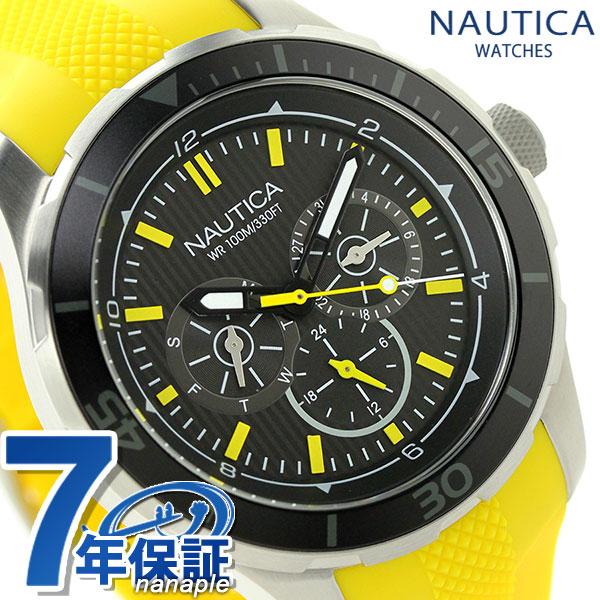 ノーティカ NST 10 クオーツ メンズ 腕時計 NAI13520G NAUTICA ブラック×イエロー 時計