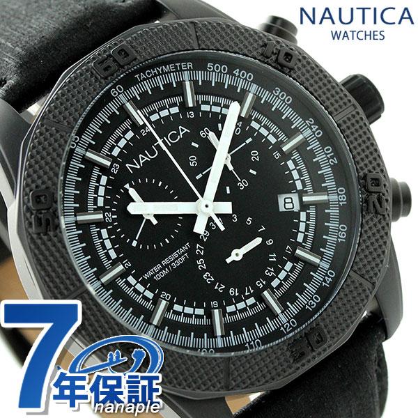 ノーティカ NST 11 クオーツ メンズ 腕時計 NAI17520G NAUTICA オールブラック 時計