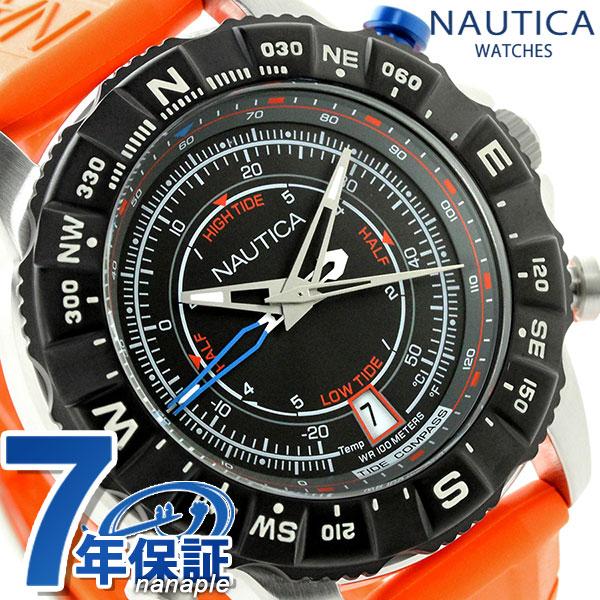ノーティカ NSR 103 タイド コンパスウオッチ 腕時計 NAI20008G NAUTICA ブラック×オレンジ 時計