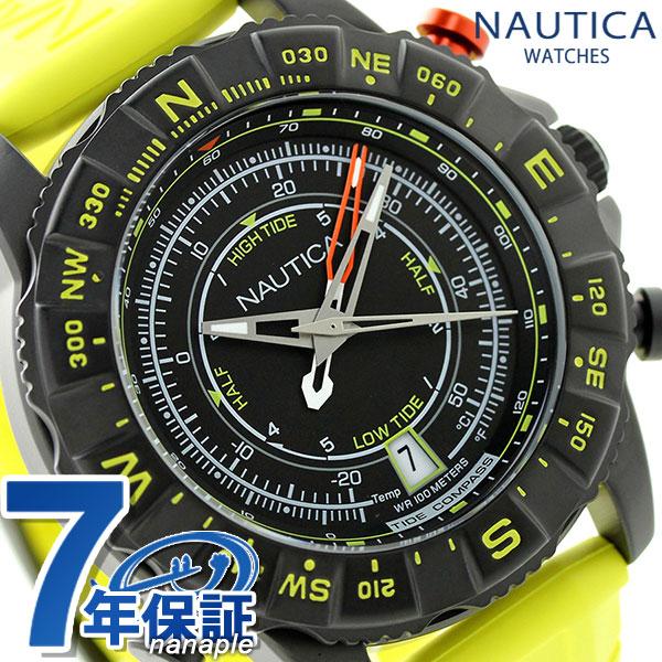 ノーティカ NSR 103 タイド コンパスウオッチ 腕時計 NAI21000G NAUTICA ブラック×イエロー 時計