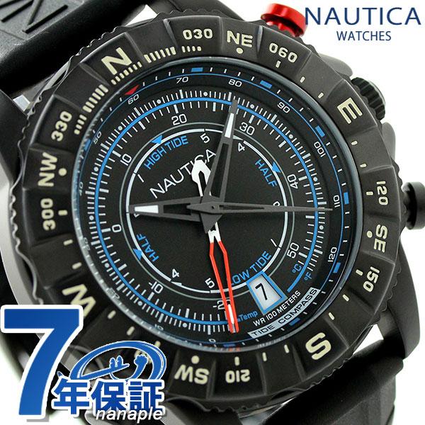 ノーティカ NSR 103 タイド コンパスウオッチ 腕時計 NAI21001G NAUTICA オールブラック 時計