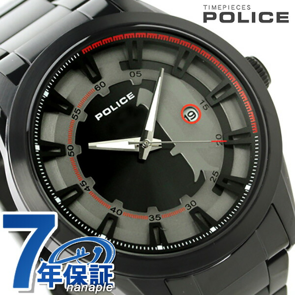 ポリス スクアドロン クオーツ メンズ 腕時計 PL14380JSB-61M POLICE グレー×ブラック 時計【あす楽対応】