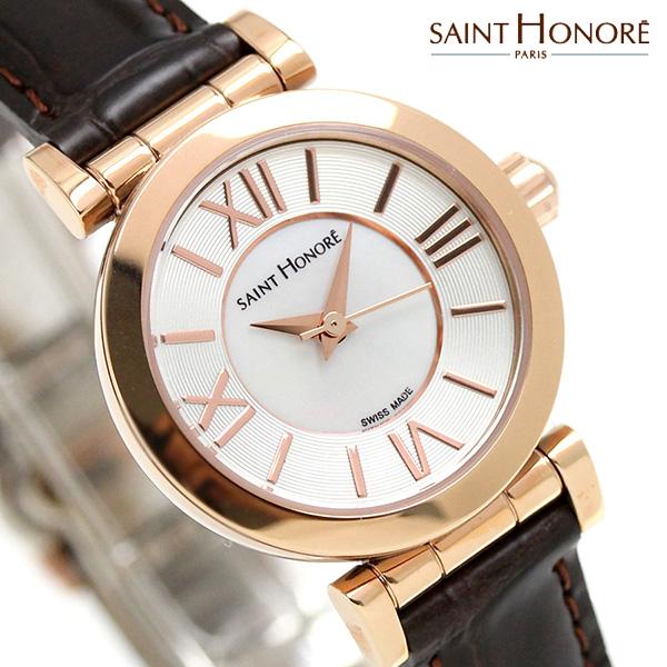 サントノーレ オペラ ミニョン 26mm スイス製 レディース SN7220118YRR SAINT HONORE 腕時計 ホワイトシェル 時計