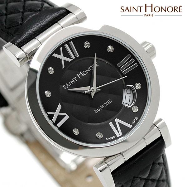 サントノーレ オペラ スモール 33mm スイス製 レディース SN7520111NM8DN SAINT HONORE 腕時計 ブラック 時計