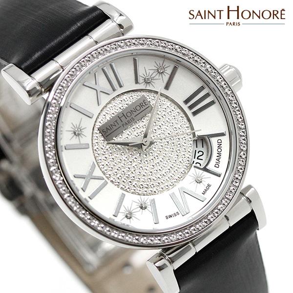 サントノーレ オペラ スモール 33mm スイス製 レディース SN7520121PARDN SAINT HONORE 腕時計 ブラック 時計
