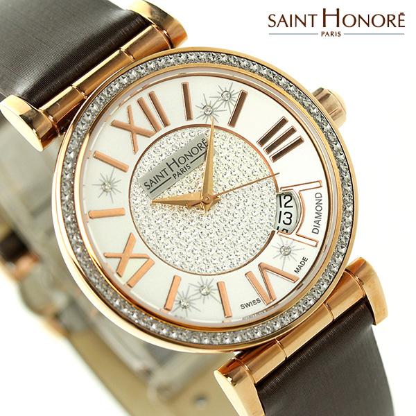サントノーレ オペラ 33mm スイス製 ダイヤモンド SN7520128PARDR SAINT HONORE 腕時計 時計