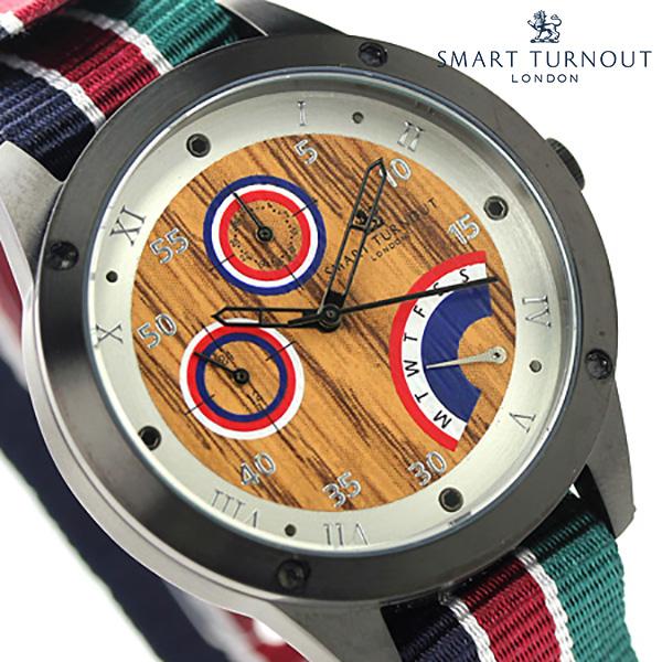 スマートターンアウト クラブ マルチファンクション STE1-AR18 SMART TURNOUT メンズ 腕時計 クオーツ ウッド ナイロンベルト 時計