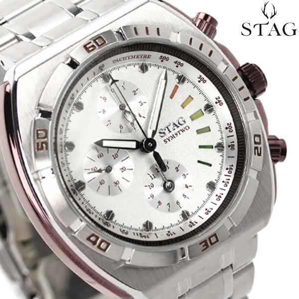 スタッグ クロノグラフ 日本製 SYM9TWO メンズ 腕時計 STG009S1 STAG クオーツ シルバー 時計