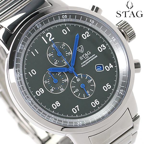 スタッグ クロノグラフ 日本製 PHILOSOPHER メンズ STG012S2 STAG 腕時計 クオーツ ブルー 時計