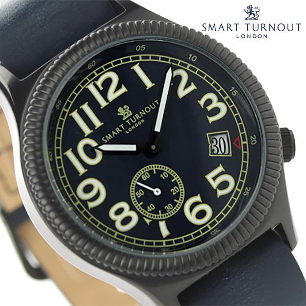 スマートターンアウト ノーソルト スモールセコンド STJ-007BKNV RO20 SMART TURNOUT メンズ 腕時計 クオーツ ネイビー レザーベルト 時計