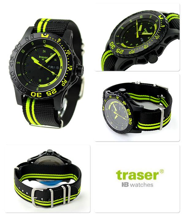 fc446fe51e トレーサー メンズ腕時計 ブラック×グリーン TRASER GREEN SPIRIT ミリタリーウォッチ 【送料無料】 9031564 MIL-G